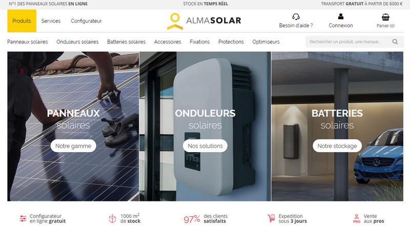 boutique en ligne de panneaux solaires