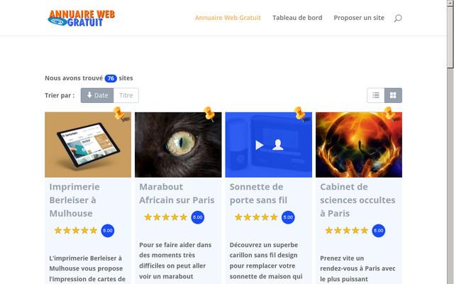 Annuaire site web gratuit for Site web gratuit
